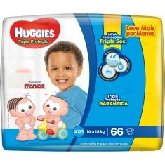 Fralda Infantil Tripla Proteção XXG Huggies 66un