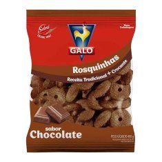 Biscoito Rosca Show Chocolate Galo 400g