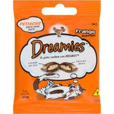 Petisco para Gatos Frango Dreamies 40g