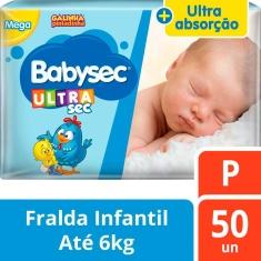 Fralda Ultrasec Mega Babysec P 50un