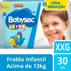 Fralda Ultrasec Mega Babysec XXG 30un