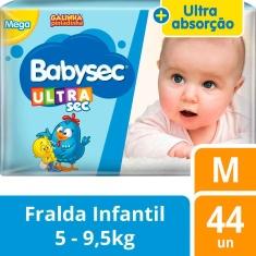 Fralda Ultrasec Mega Babysec M 44un