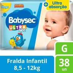 Fralda Ultrasec Mega Babysec G 38un