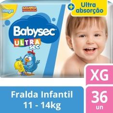 Fralda Babysec Ultra Mega XG 36un