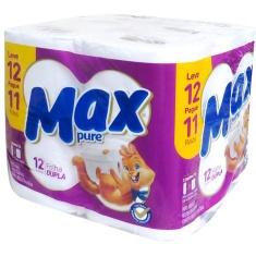 Papel Higiênico Folha Dupla Max Pure 30m Leve 12 Pague 11 unidades