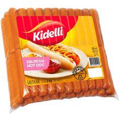 Salsicha Hot-Dog Congelada Kidelli 3kg