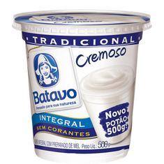 Iogurte Natural Integral Batavo 500g