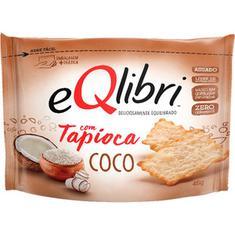Biscoito Cracker com Tapioca Sabor Coco Eqlibri 45g