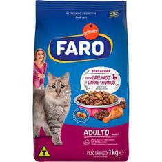 Alimento para Gatos Adultos Grelhado de Carne e Frango Faro 1kg