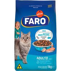 Alimento para Gatos Adultos Mix Peixes Faro 1kg