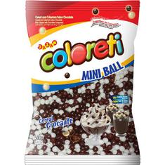 Confeito Cereal Coloreti Mini Ball ao Leite e Branco Jazam 500g