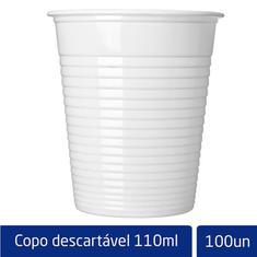 Copo Descartável Branco Altacoppo 110ml 100un.