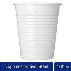 Copo Descartável Branco Altacoppo 80ml 100un.