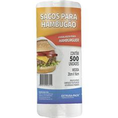 Saco Branco para Hamburgão Romapack 500un.