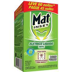 Inseticida Elétrico Líquido Mat Inset Refil Leve 60 Pague 45 noites