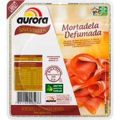 Mortadela Defumada Fatiada Aurora 200g