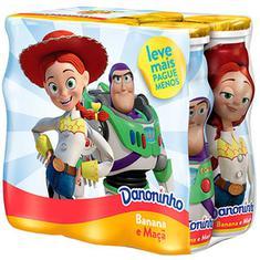 Iogurte sabor Banana e Maçã Para Beber Danoninho Pack 600g