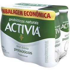 Leite Fermentado Tradicional Shot Activia Pack 600g