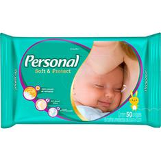 Toalha Umedecida Personal Soft & Protect 50un.
