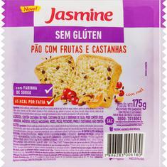 Pão com Frutas e Castanhas Sem Glúten Jasmine 175g