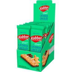 Barra de Cereal Sabor Castanha com Chocolate Kobber 12x20g