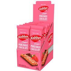 Barra de Cereal Sabor Morango com Chocolate Kobber 12x20g