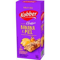 Barra de Cereal Sabor Banana e Mel Kobber 3x20g