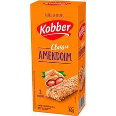 Barra de Cereal Sabor Amendoim Kobber 3x20g