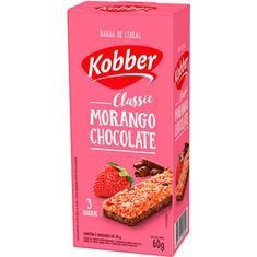 Barra de Cereal Sabor Morango com Chocolate Kobber 3x20g