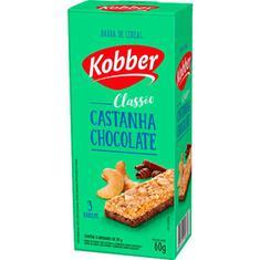 Barra de Cereal Sabor Castanha com Chocolate Kobber 3x20g