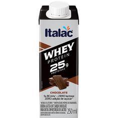 Bebida Láctea sabor Chocolate Whey Protein Italac 250ml