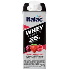 Bebida Láctea sabor Frutas Vermelhas Whey Protein Italac 250ml