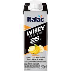 Bebida Láctea sabor Banana Whey Protein Italac 250ml