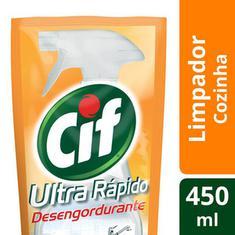 Limpador Desengordurante Ultra Rápido Cif Refil 450ml