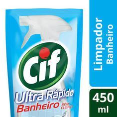 Limpador para Banheiro Ultra Rápido sem Cloro Cif Refil 450ml
