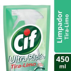 Limpador Tira-Limo Ultra Rápido com Cloro Cif Refil 450ml