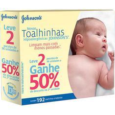 Lenço Umedecido Johnson's Baby 96un 50% de Desconto