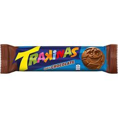 Biscoito Recheado Sabor Chocolate Trakinas 126g