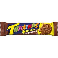 Biscoito Recheado sabor Chocolate Mais Trakinas 126g