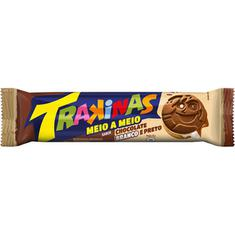 Biscoito Recheado Meio a Meio Chocolate e Chocolate Branco Trakinas 126g