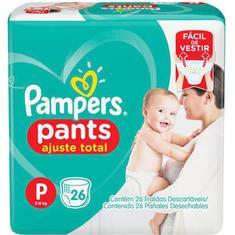 Fralda Pampers Pants Ajuste Total P 26 unidades