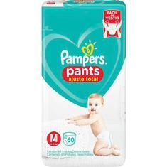 Fralda Pampers Pants Ajuste Total M 60 unidades