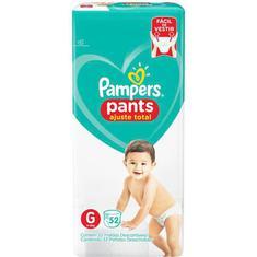 Fralda Pampers Pants Ajuste Total G 52 unidades