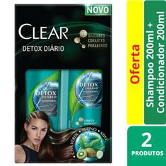 Shampoo + Condicionador Clear Detox Diário 200ml