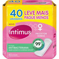 Protetor Diário Tecnologia Antibacteriana Intimus Days 40un.