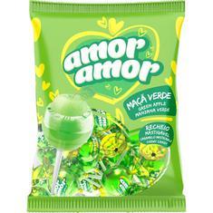 Pirulito sabor Maçã Verde Amor Amor Neugebauer 480g