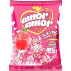 Pirulito sabor Morango Amor Amor Neugebauer 480g