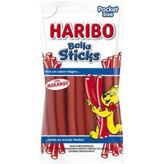 Bala de Gelatina Sticks Morango Haribo 80g