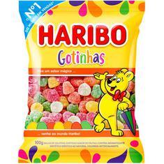 Bala de Gelatina Gotinhas Haribo 100g