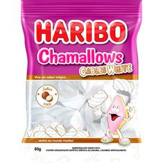 Marshmallow Chamallows Cables White Haribo 80g
